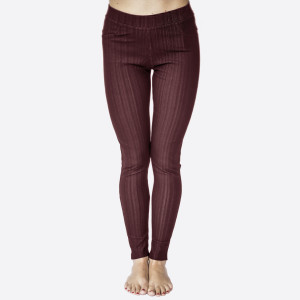 "Premium burgundy denim back pocket ankle jeggings made of premium stretch denim material. Features back pockets embellished with studs detail One size fits most dress size 0-14. Approx 30"" inseam. 75% Cotton, 17% Polyester, 8% Spandex."