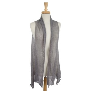 Lightweight, solid colored, knit vest. 100% acrylic. One size fits most.