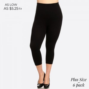 Plus size high waist compression capri legging. Tummy Control for extra hold. These high waist Capri leggings have a compression control top that flattens your tummy and contours your waistline for an hourglass silhouette. 
