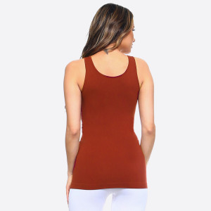 The possibilities are endless with Women's Seamless Tank Top. This basic beauty offers style and comfort for any setting. Rock it bare with a pair of denim jeans for a casual look. Or have fun mixing and matching with patterned cardigans, skater skirts, and wide leg pants for a sassy look.   • Round Neckline  • Body-con  • Sleeveless  • Fitted  • Solid Color  • Super Soft  • Stretchy   One size fits most 0-14.