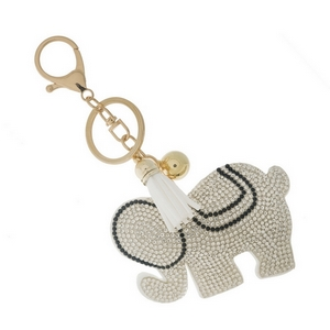 """Elephant key chain and bag charm. Approximately 6"""" in total length."""
