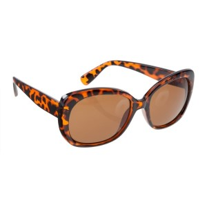 Tortoise round style sunglasses with UV 400 protection lenses.