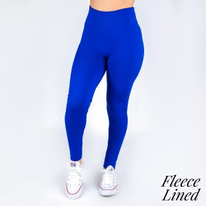 New Kathy / New Mix royal blue, fleece lined leggings are seamless, chic, and a must-have for every wardrobe. These cozy, full-length leggings are versatile, perfect for layering, and available in many shades. Smooth fabric, 92% Nylon 8% Spandex. One size fits most, fits US women's 0-14.