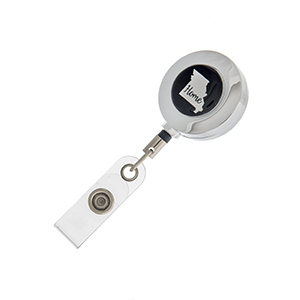 "Missouri ""Home"" ID badge holder with retractable reel."