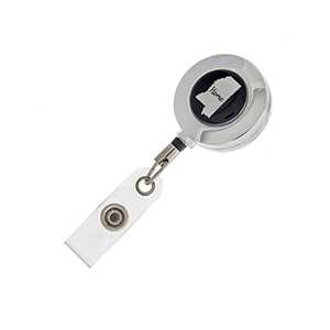 "Mississippi ""Home"" ID badge holder with retractable reel."