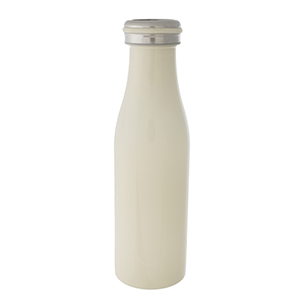 Ivory double walled, stainless steel, bottle keeps 17 ounce drinks hot or cold for up to 24 hours. Features a vacuum seal, is non-toxic, and BPA free.