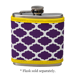 Display your school pride with your very own neoprene flask cover in your school colors! Neoprene is insulated and machine washable. This item can be monogrammed, embroidered or screen printed. FLASK SOLD SEPARATELY!!v