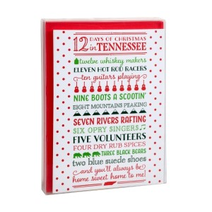 Holiday Greeting Cards- 12 Days of Christmas in Tennessee (Box of 8).