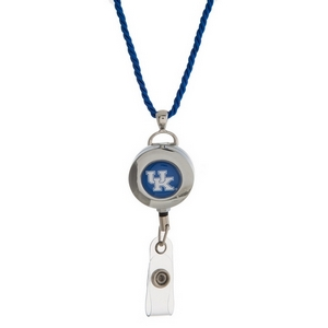 "Officially licensed University of Kentucky lanyard and ID holder with a break-away cord. Approximately 32"" in length."