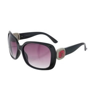 Officially licensed black sunglasses with the University of Louisville logo on the sides. UV 400 protection.