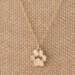 Wholesale dainty necklace paw print charm charm