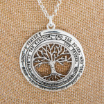 Wholesale long metal necklace tree life pendant Approximate
