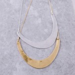 Wholesale modern metal bib statement necklace withy extender