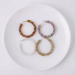 Wholesale large hoop earrings multicolor silver rhinestones diameter