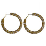 Wholesale large hoop earrings gold silver rhinestones diameter