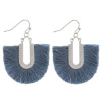 Wholesale silver fishhook earring fanned tassel