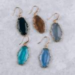 Wholesale long fishhook resin earring resin crystal Approximate