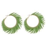 Wholesale large hoop earrings feather inspired tassel accents diameter