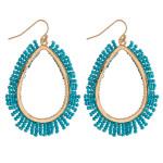 Wholesale teardrop earrings beaded tassel details
