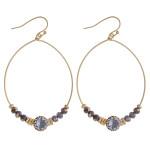 Wholesale rhinestone beaded teardrop dangle earrings