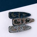 Wholesale leopard print rhinestone hair clip