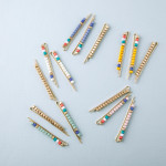Wholesale hair pin set three hair pins color block beaded details