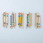 Wholesale hair pin set three hair pins color block beaded details