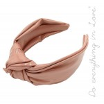 Wholesale do everything Love brand oversized knotted PU headband One PU