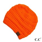 Wholesale c C MB Solid color beanie tail hat Original messy bun beanie Acrylic O