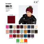 Wholesale c C HW Solid ribbed headwrap Acrylic One fits most