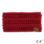 Wholesale c C HB Solid ribbed ponytail headband Acrylic One fits most
