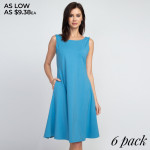 Wholesale adorable line dress sleeveless silhouette two side pockets carrying l