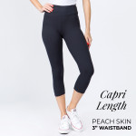 Wholesale mix Brand peach skin capris seamless chic must have every wardrobe li
