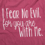 Wholesale fear no evil me Short Sleeve Boutique Graphic Tee t shirts sold pack S