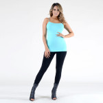 Wholesale seamless tank top spaghetti straps fade resistant fabric soft stretch