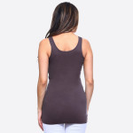 Wholesale solid color seamless tank top Round Neckline Body con Sleeveless Fitte