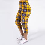 Wholesale peach skin plaid print capri leggings Inseam One fits most Composition