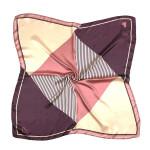 Wholesale color block triangle striped bandana scarf neckerchief Polyester
