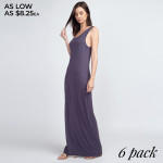 Wholesale solid color full sleeveless maxi dress Pack Breakdown pcs pack S M L C