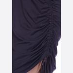 Wholesale short sleeve solid tunic dress adjustable side drawstring o Round neck
