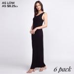Wholesale solid color full sleeveless maxi dress Pack Breakdown pcs pack S M L C