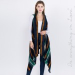Wholesale do everything Love brand multicolor striped vest raw edges L longest L