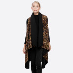Wholesale leopard print round vest One fits most L Polyester