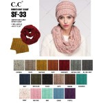 Wholesale sF Confetti knit cable C C infinity scarf acrylic Matches MB HAT G W L