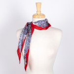 Wholesale paisley Mix Print Silky Scarf Polyester
