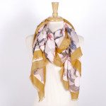 Wholesale lightweight floral scarf acrylic
