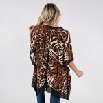 Wholesale animal print kimono viscose