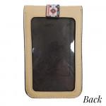 Wholesale aztec print cross body bag clear phone window W L strap