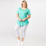 Wholesale pLUS striped short sleeve tunic top Pack breakdown pcs pack XL XXL XXX